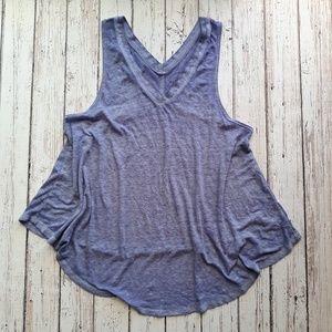 FREE PEOPLE Flowy Burnout Tank Blue/Purple Size S